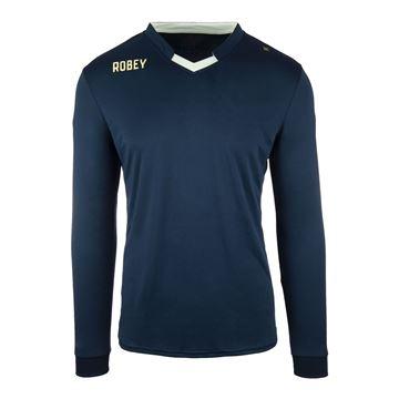 Afbeeldingen van Robey Hattrick Voetbalshirt - Navy Blauw (Lange Mouwen)