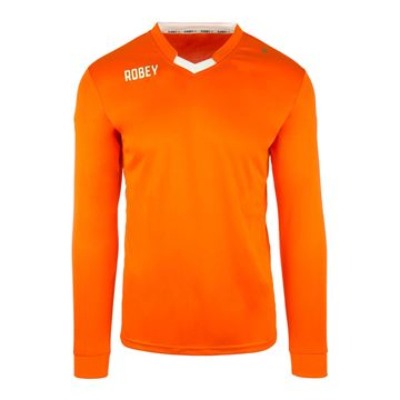 Afbeeldingen van Robey Hattrick Voetbalshirt - Oranje (Lange Mouwen)