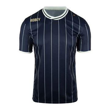 Afbeeldingen van Robey Pinstripe Voetbalshirt - Navy Blauw