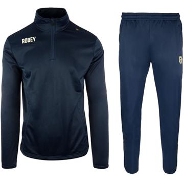 Afbeeldingen van Robey Premier Zip Trainingspak - Navy Blauw