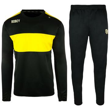 Afbeeldingen van Robey Sweat Performance Trainingspak - Zwart/Geel