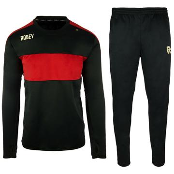 Afbeeldingen van Robey Sweat Performance Trainingspak - Zwart/Rood