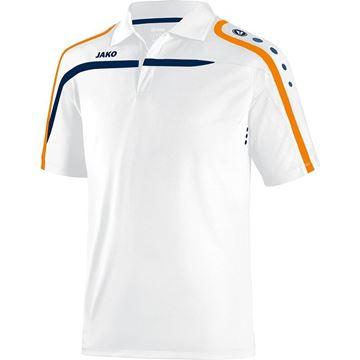 Afbeeldingen van JAKO Performance Polo - Wit/Oranje