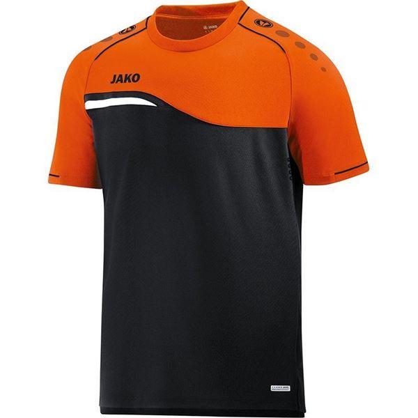 Afbeelding van Jako Competition Shirt - Zwart - Oranje - Kinderen