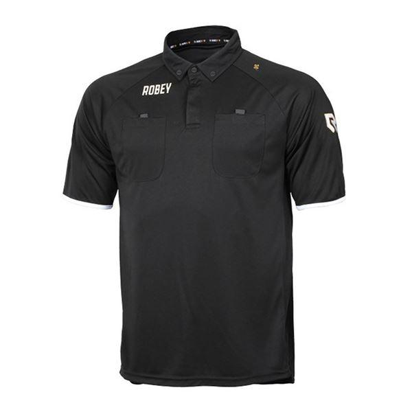 Afbeelding van Robey Referee Scheidsrechter Shirt - Zwart