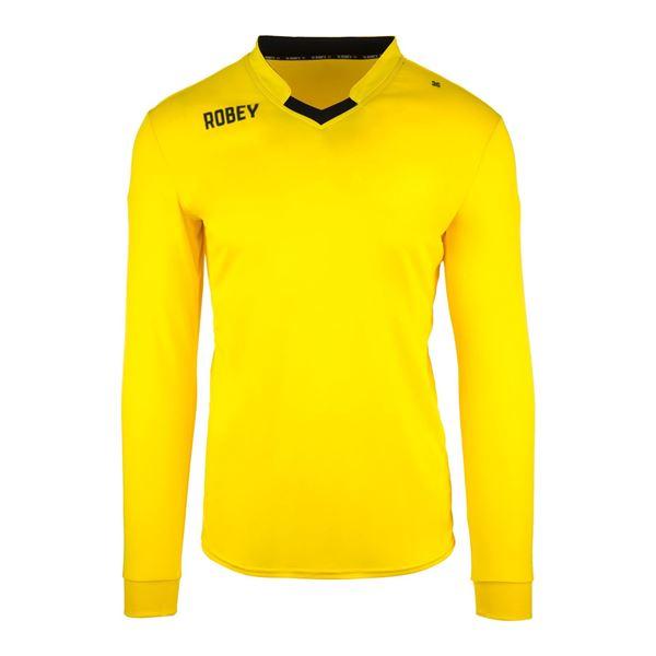 Afbeelding van Robey Hattrick Voetbalshirt - Geel (Lange Mouwen)