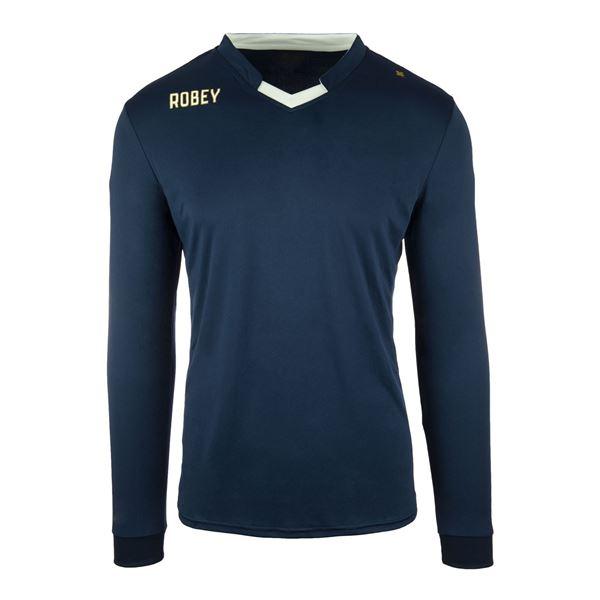 Afbeelding van Robey Hattrick Voetbalshirt - Navy Blauw (Lange Mouwen)