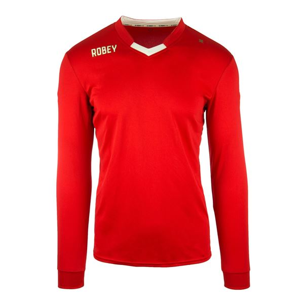 Afbeelding van Robey Hattrick Voetbalshirt - Rood (Lange Mouwen)