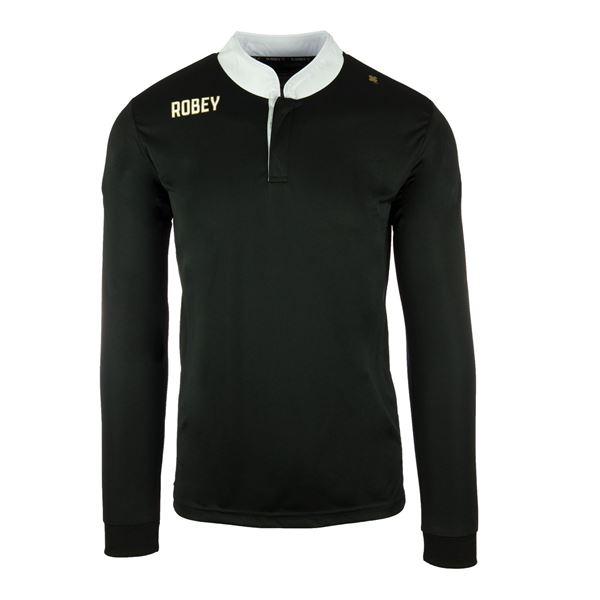 Afbeelding van Robey Kick Off Voetbalshirt - Zwart (Lange Mouwen)