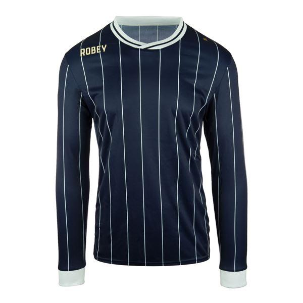 Afbeelding van Robey Pinstripe Voetbalshirt - Navy Blauw (Lange Mouwen)