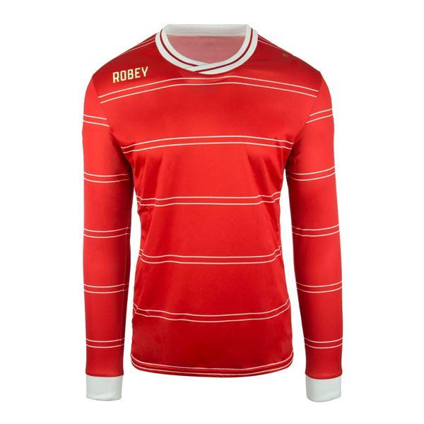 Afbeelding van Robey Sartorial Voetbalshirt - Rood (Lange Mouwen)