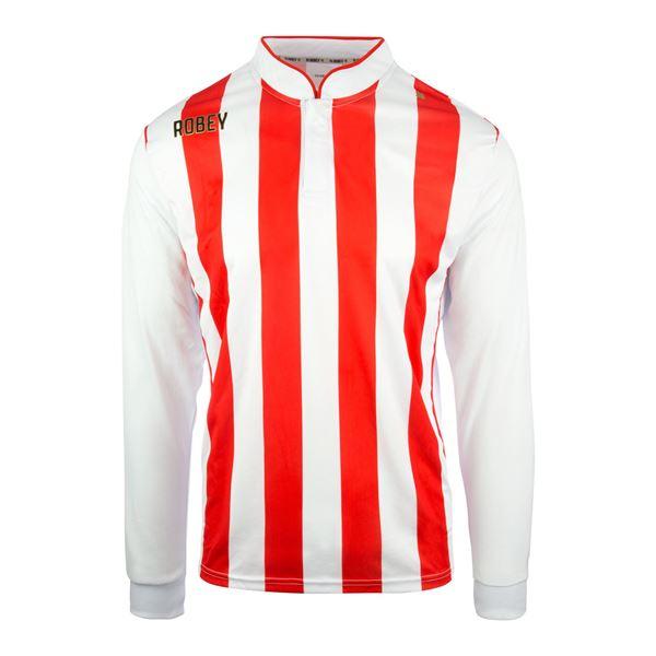 Afbeelding van Robey Winner Voetbalshirt - Rood/ Wit (Lange Mouwen)