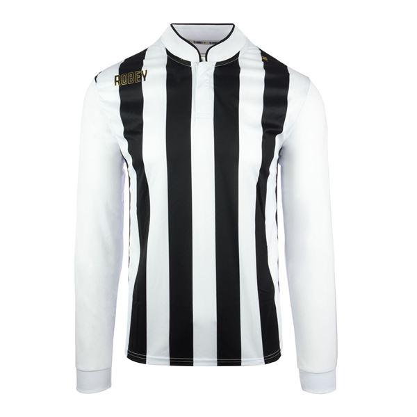 Afbeelding van Robey Winner Voetbalshirt - Zwart/ Wit (Lange Mouwen)