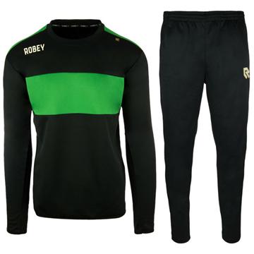 Afbeeldingen van Robey Sweat Performance Trainingspak - Zwart/Groen