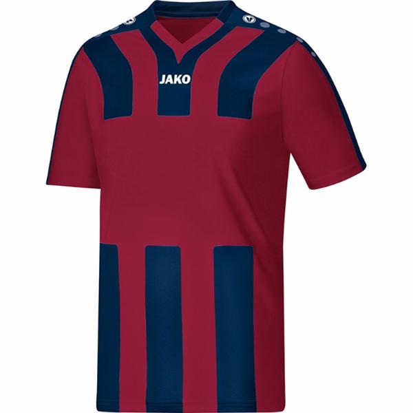 Afbeelding van JAKO Santos Shirt- Bordeaux Rood/Blauw