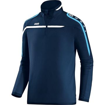 Afbeeldingen van JAKO Performance Zip Training Top - Navy Blauw/Aqua Blauw