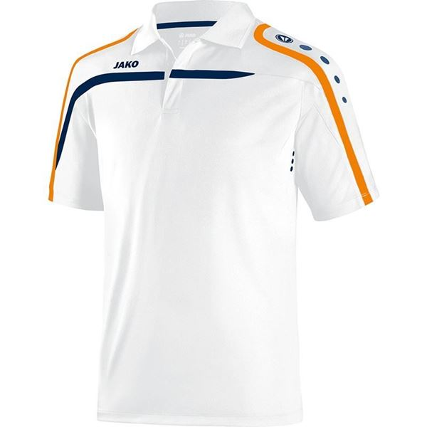 Afbeelding van JAKO Performance Polo - Wit/Oranje