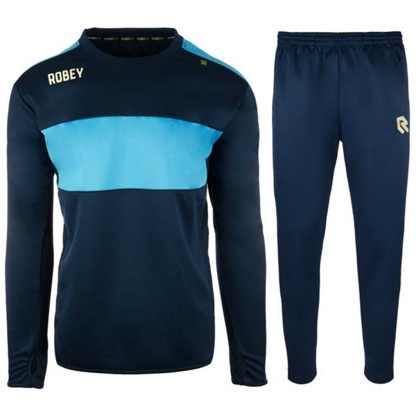Afbeelding van Robey Sweat Performance Trainingspak - Navy/Licht Blauw - Kinderen