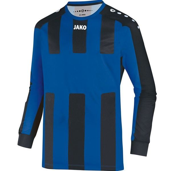 Afbeelding van JAKO Milan Shirt - Blauw/Zwart (Lange Mouwen) - Kinderen