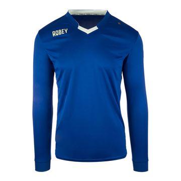 Afbeeldingen van Robey Hattrick Voetbalshirt - Blauw (Lange Mouwen) - Kinderen