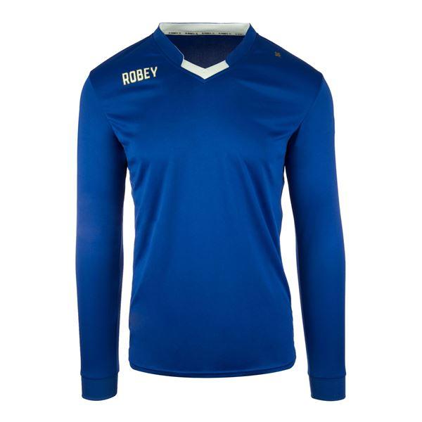 Afbeelding van Robey Hattrick Voetbalshirt - Blauw (Lange Mouwen) - Kinderen