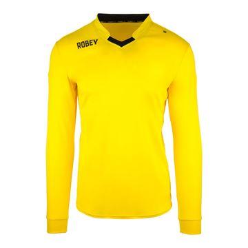 Afbeeldingen van Robey Hattrick Voetbalshirt - Geel (Lange Mouwen) - Kinderen