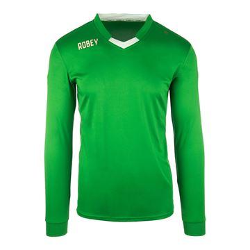 Afbeeldingen van Robey Hattrick Voetbalshirt - Groen (Lange Mouwen) - Kinderen