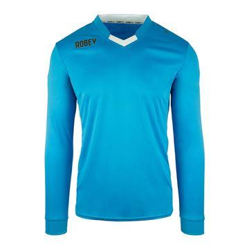 Afbeeldingen van Robey Hattrick Voetbalshirt - Licht Blauw (Lange Mouwen) - Kinderen