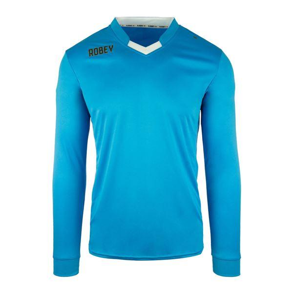 Afbeelding van Robey Hattrick Voetbalshirt - Licht Blauw (Lange Mouwen) - Kinderen