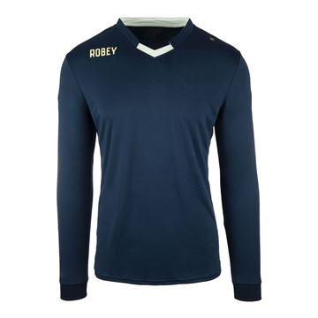 Afbeeldingen van Robey Hattrick Voetbalshirt - Navy Blauw (Lange Mouwen) - Kinderen