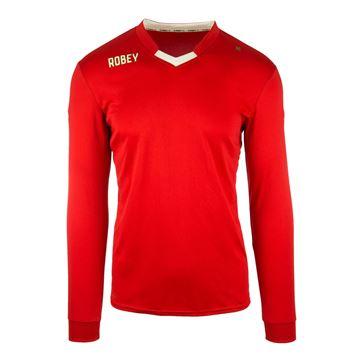 Afbeeldingen van Robey Hattrick Voetbalshirt - Rood (Lange Mouwen) - Kinderen