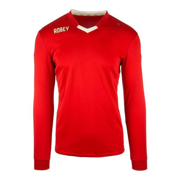 Afbeelding van Robey Hattrick Voetbalshirt - Rood (Lange Mouwen) - Kinderen