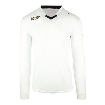 Afbeeldingen van Robey Hattrick Voetbalshirt - Wit (Lange Mouwen) - Kinderen