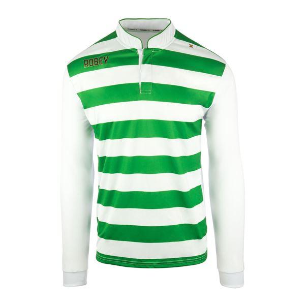 Afbeelding van Robey Legendary Voetbalshirt - Groen/ Wit (Lange Mouwen) - Kinderen