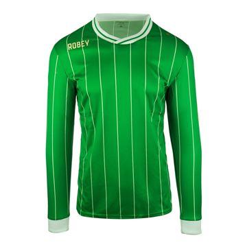 Afbeeldingen van Robey Pinstripe Voetbalshirt - Groen (Lange Mouwen) - Kinderen