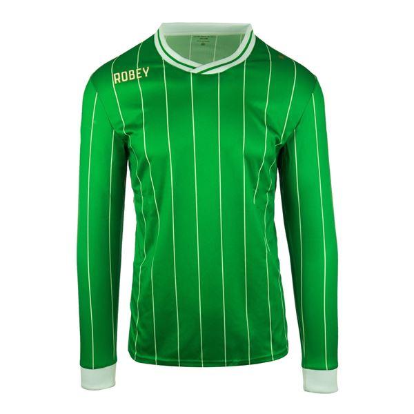 Afbeelding van Robey Pinstripe Voetbalshirt - Groen (Lange Mouwen) - Kinderen