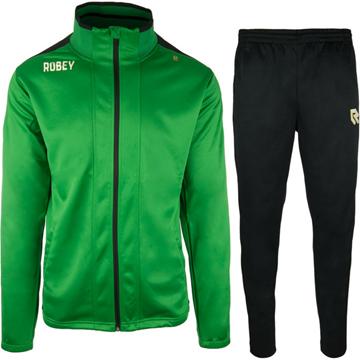Afbeeldingen van Robey Performance Trainingspak - Groen - Zwart