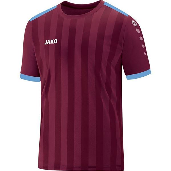 Afbeelding van JAKO Porto 2.0 Shirt - Bordeaux/Lichtblauw