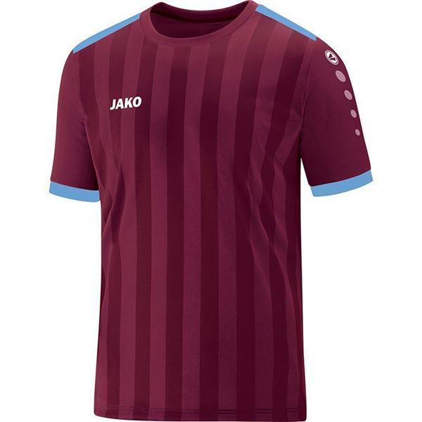 Afbeelding van JAKO Porto 2.0 Shirt - Bordeaux/Lichtblauw - Kinderen