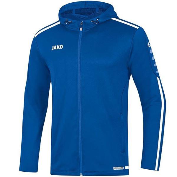 Afbeelding van JAKO Striker 2.0 Hooded Trainingsjack - Blauw/ Wit