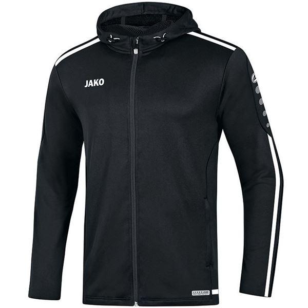 Afbeelding van JAKO Striker 2.0 Hooded Trainingsjack - Zwart/ Wit