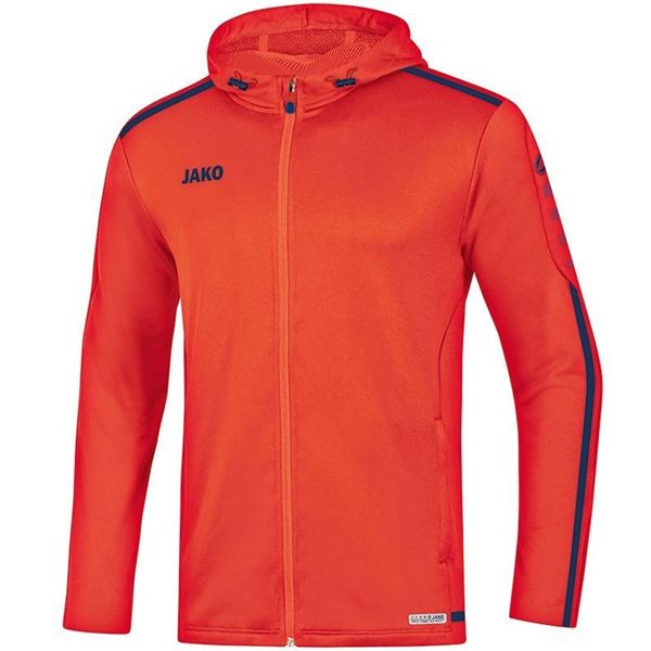 Afbeelding van JAKO Striker 2.0 Hooded Trainingsjack - Flame/ Navy
