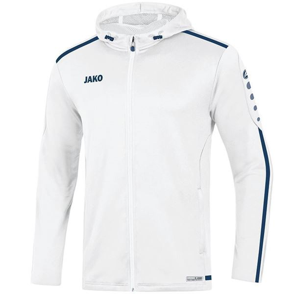 Afbeelding van JAKO Striker 2.0 Hooded Trainingsjack - Wit/ Navy