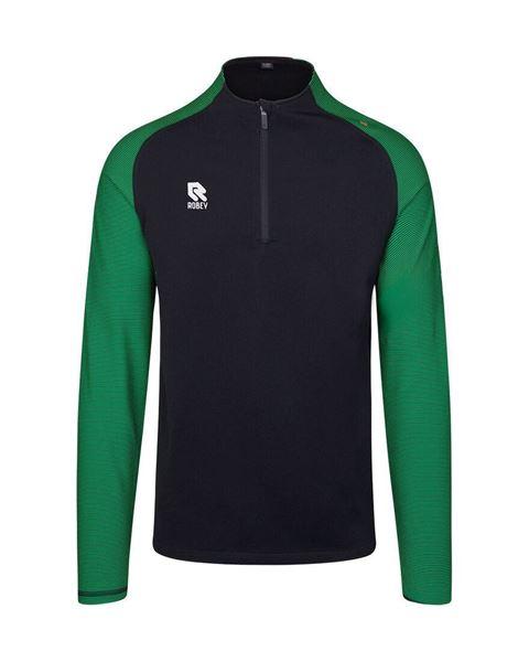 Robey Training Sweater - Zwart/Groen