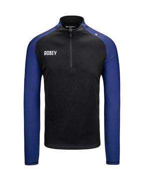 Robey Training Sweater - Zwart/Blauw
