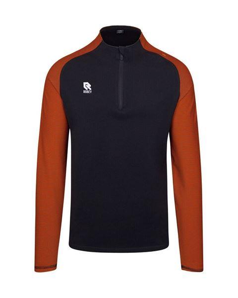 Robey Training Sweater - Zwart/Oranje