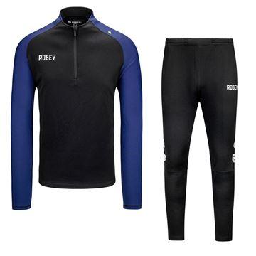 Robey Performance Trainingspak - Zwart/Blauw