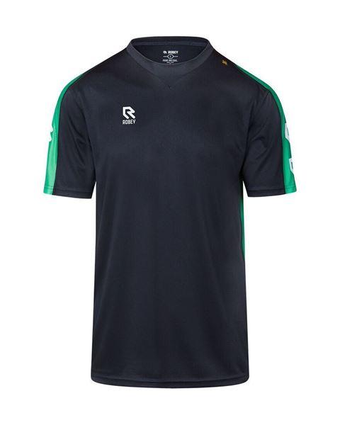 Afbeelding van Robey Performance Trainingsshirt - Zwart/ Groen - Kinderen